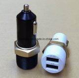2 dans 1 chargeur portatif duel de véhicule d'USB avec l'allumeur de cigarette