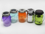 Holiday Outdoor Decoration Glitter LED Glass Jar Light