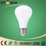 Eficiência elevada do cogumelo 9W do bulbo do diodo emissor de luz de Ctorch com certificado de Ce/RoHS