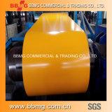 Hoja de PPGI de acero recubierto de color de alta calidad en bobina 0.135-0.6mm * 750-1250mm PPGI para hacer techos corrugados