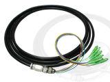 De optische Waterdichte Kabel van de Optische Vezel van het Verlies van de Toevoeging van het Koord van het Flard Lage