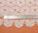 Nueva tela caliente del cordón del bordado del poliester Tone100 de la venta dos