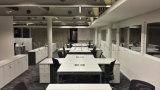 مركز عمل حديث مفتوحة [أفّيس فورنيتثر] بيضاء لامعة [مينيمليست] ([سز-وس114])