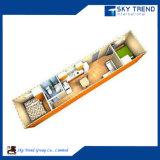 Apartamento vivo modular del envase con el dormitorio y el cuarto de baño