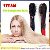 Cepillo eléctrico vendedor caliente de la enderezadora del pelo de Digitaces del cepillo de pelo de la enderezadora