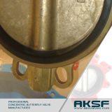 Válvula de borboleta alinhada borracha do bronze C954 de alumínio