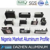 나이지리아 Windows 문에 의하여 주문을 받아서 만들어지는 색깔을%s 알루미늄 알루미늄 단면도