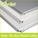 600*600 Plain e telhado material de alumínio interno perfurado do teto