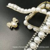 Parte posteriore piana a metà intorno alla striscia adesiva delle perle di ceramica della catena delle perle (TS-037)