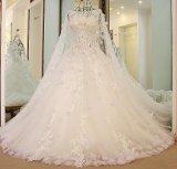 Abnehmbare Hochzeits-Brautkleid bördelt Feder-Spitze-Hochzeits-Kleid Zy04