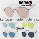 Meia borda com metal Eyebar cabido no projeto novo dos óculos de sol Km17092 da lente de Colourfull da forma