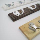 Beaux crochets à haute teneur de vêtements en bois et crochets de rangée en métal (ZH-7004)