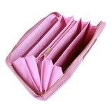 Оптовый бумажник застежки -молнии цвета контраста кожи PU розовой повелительницы бумажника
