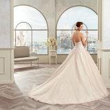 Новый шнурок Tulle прибытия Appliques a - линия платье венчания 2017