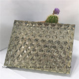 glace d'or légère en verre de verre feuilleté de 10mm/métier/art/glace Tempered pour la décoration