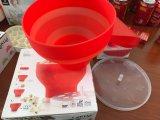 Conteneurs de maïs éclaté de micro-onde de bol de maïs éclaté de plastique silicone