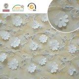 Alta señora Dress/falda/alineada llena/ropa 009 de la tela del cordón de la flor del brillo del bordado de Qlty