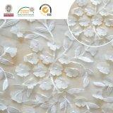 bordado delicado, la mejor ropa de la tela del cordón 3D de las mujeres de la venta buena para la boda C10026