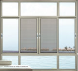Anti-Theft окно Casement Tempered стекла алюминиевое с конструкцией решетки