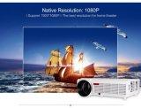 무선 극장 시스템 가득 차있는 HD LED 가벼운 1280*800p 인조 인간 WiFi 요지 개정 영사기