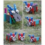 14885504-4 en bloques creativos educativos cambiados animal de 1 del bloque juguete del kit DIY fijar 38PCS (los pequeños cerdos del lobo tres)