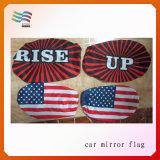 Tecido Lycra personalizado impresso decorativo carro espelho bandeira da tampa