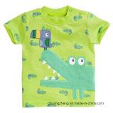 子供は男の子の印刷された綿のTシャツをからかう