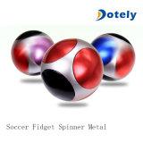 Juguetes de la persona agitada del hilandero de la mano del fútbol para el alivio de tensión de la ansiedad
