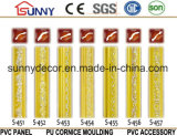 Polyuréthane d'argent de corniche d'unité centrale de couleur moulant le moulage décoratif de corniche