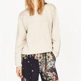 Damas de moda Back Split vendaje blusa del suéter
