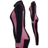 Da aptidão longa da luva da mulher Sportswear elástico flexível da ioga da ginástica