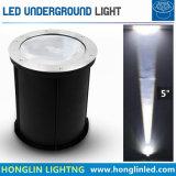 Luz subterrânea estreita do ângulo de feixe do diodo emissor de luz do branco morno 5degree 30W