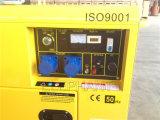 Generador diesel portable del pabellón silencioso insonoro 5kVA 6kVA con precio bajo
