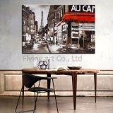 Домашняя картина маслом искусствоа украшения на холстине для улицы Париж