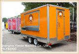 Ys-Fb390d 음식 트럭 사우디 아라비아를 판매하는 주황색 음식 트럭 트레일러