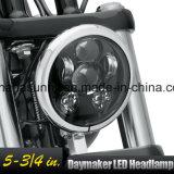 """高品質5.75の""""オートバイのための黒い円形LEDの投射のDaymaker Harleyのヘッドライト"""