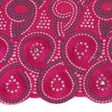 Tela púrpura del cordón del algodón del remache para el paño del partido
