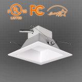 UL ES 6inch 20W는 백색 LED Downlight, 흐리게 하는 0-10V를 데운다