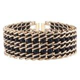 方法マルチ層の真珠の金属編みこみのデザイナーチョークバルブのネックレスの宝石類