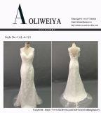 O vestido de casamento nupcial brandnew de Aoliweiya com V suporta