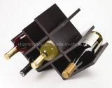 Cremagliera di visualizzazione di legno del vino della farfalla di memoria di disegno compatto 8-Bottles