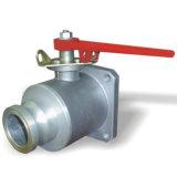 Einzelner quadratischer Flansch-Aluminiumkugelventil Dn80