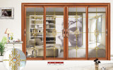 Double porte coulissante en aluminium en verre découpée Tempered pour la salle de séjour