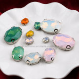 Oval 10 * 14 Neon Oppal Color Hand Sewing Rhinestones DIY Acessórios de vestido de casamento (SW-oppal Drop 10 * 14)