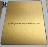 プロジェクトのマットの反指紋のためのヘアラインによって終えられる着色されたステンレス鋼装飾的なシート