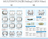 3X4 Multi-Switch satellite, interruttore di Diseqc (SHJ-SUX-34A)