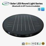 Lampe ronde solaire LED 20W avec une application Bluetooth