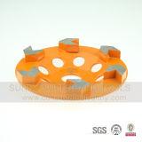 100mm roue de cuvette de diamant de 5 segments de flèche pour K08 en pierre et concret