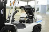 Japonés motor Nissan K25 color blanco GLP / gas carretilla elevadora