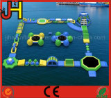 Juego inflable flotante del agua, parque inflable del agua
